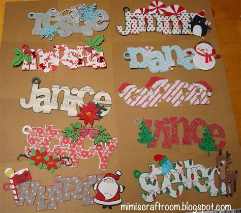 mimi s craft room christmas name tags with cricut explore