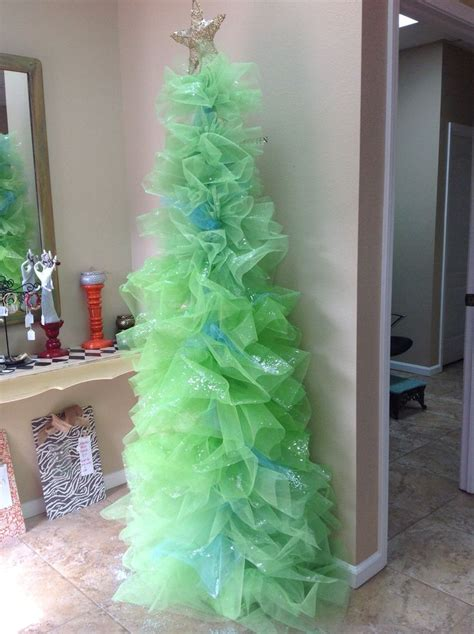 how to decorate tree with tulle tulle tree ho ho holidays