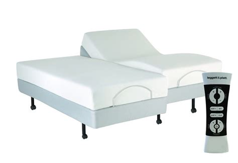 king split adjustable bed split king leggett platt scape plus adjustable bed