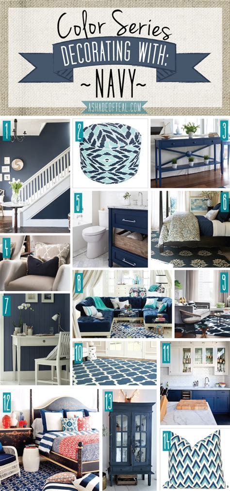 navy home decor color series decorating with navy navy home decor