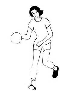 imagenes de niños jugando al handbol coloriage joueuse de handball coloriages 224 imprimer