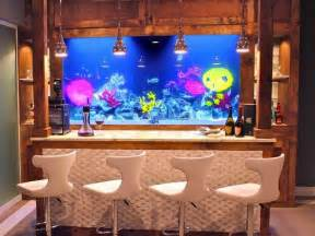 salt water fish tank a home bar so cool for my