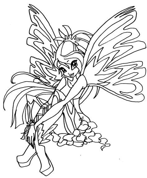 coloriage winx bloom enchantix