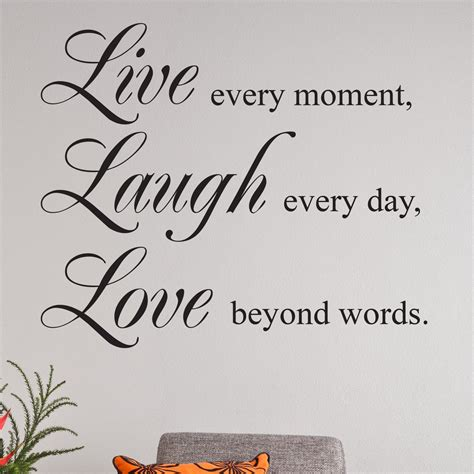 live laugh quote wall sticker wallstickers co uk