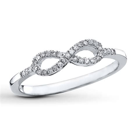 infinity ring 1 10 ct tw cut sterling
