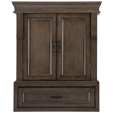 Wall Cabinet Bathroom Home Decorators Collection Naples 26 3 4 In W Bathroom Storage Wall Cabinet In Distressed Grey