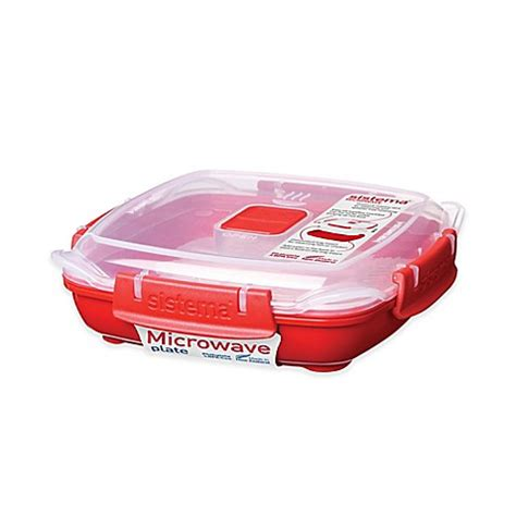 microwave bed bath and beyond buy sistema 174 14 8 oz small microwave plate in red from bed bath beyond