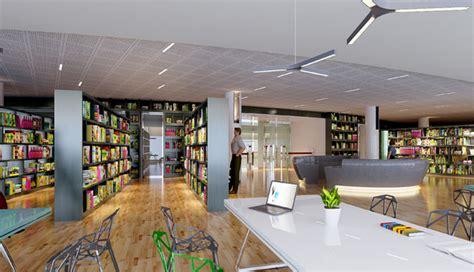 3d interior design library public library 3d model max cgtrader com