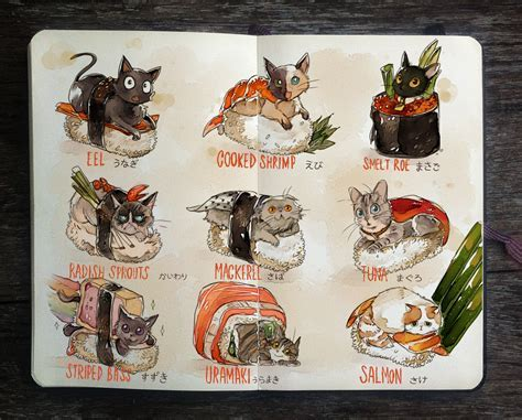 .: Sushi Cats by Picolo kun on DeviantArt
