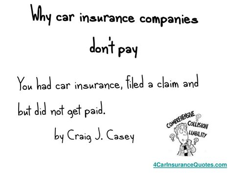Why car insurance companies don't pay