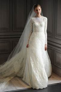 chic photos of vintage lace wedding dresses with long