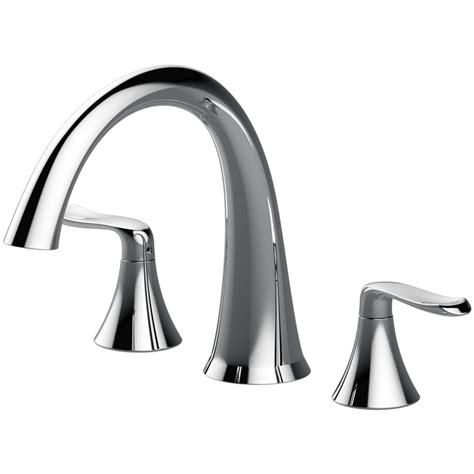 jacuzzi bathtub faucets shop jacuzzi piccolo chrome 2 handle deck mount bathtub