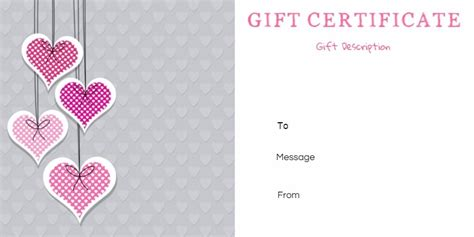 Anniversary Gift Certificate Template free printable anniversary gift vouchers customize