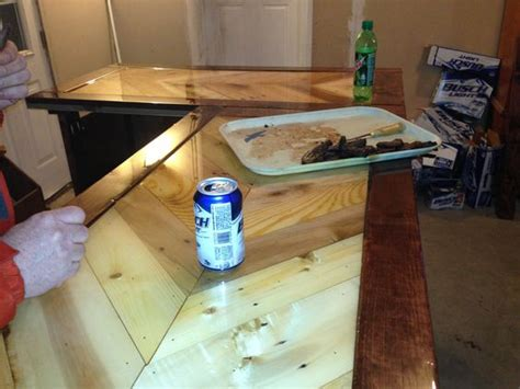 epoxy bar top finish pallet bar top epoxy finish pallet projects pinterest