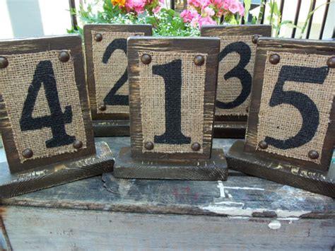 Rustic Table Numbers by Wedding Table Numbers Rustic Country Distressed Reception