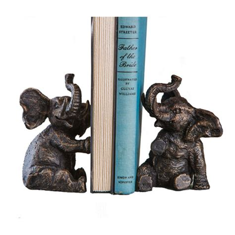 urban trends home decor resin elephant bookend set of two urban trends collection
