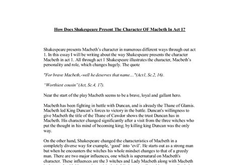 the supernatural in shakespeare english literature supernatural in macbeth essay supernatural elements in