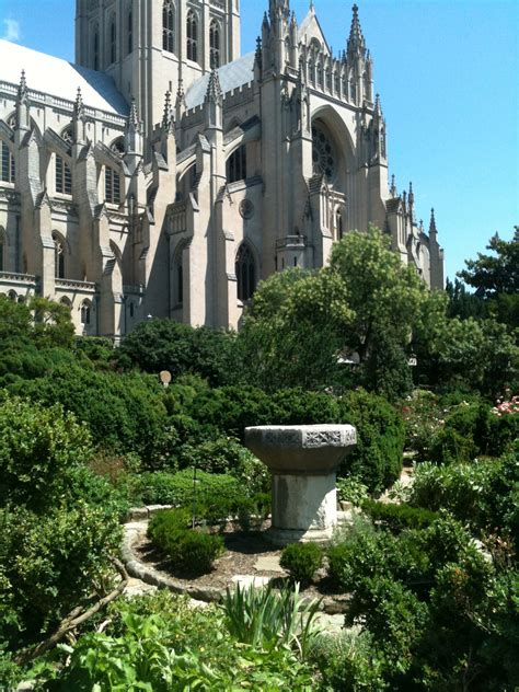 washington national cathedral the bishop s garden and its