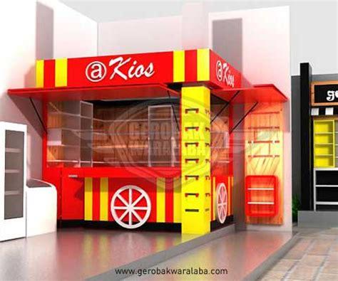 desain gerobak fried chicken desain booth era kios bandung