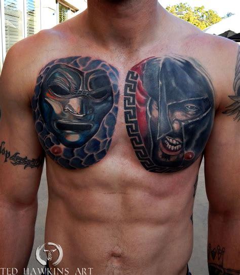 tedhawkinsart 300 chestplate 300 leonidas immortals mask