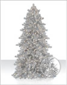 narrow silver tinsel artificial christmas tree christmas