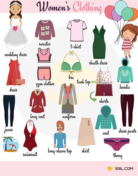clothing vocabulary english vocabulary women s clothing english learning