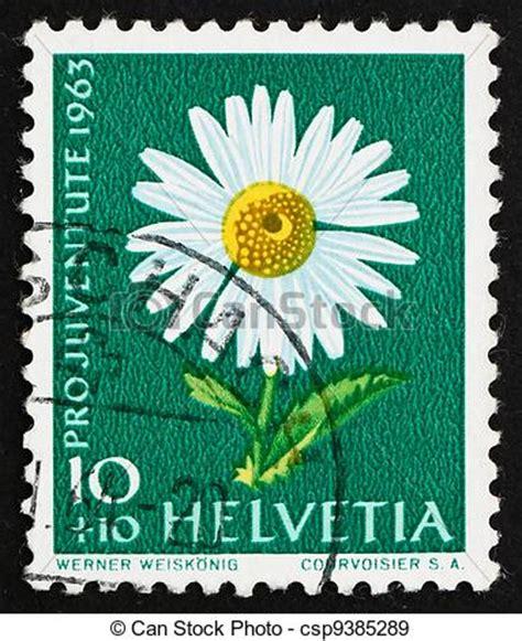 Brief Schweiz Briefmarke Stock Fotografien Bellis Briefmarke 1963 Perennis Gemeinsam Schweiz Csp9385289