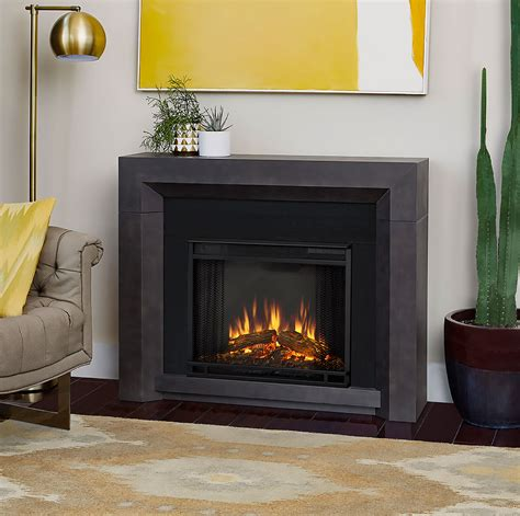 Grey Fireplace Mantel by Hughes Electric Fireplace Mantel Package In Grey 3001e Gry
