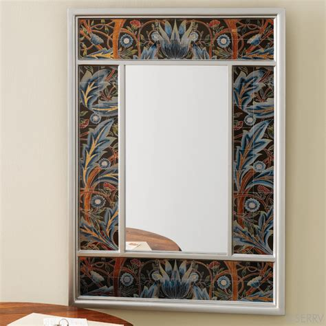 glass mirror wall decor wall floral glass mirror