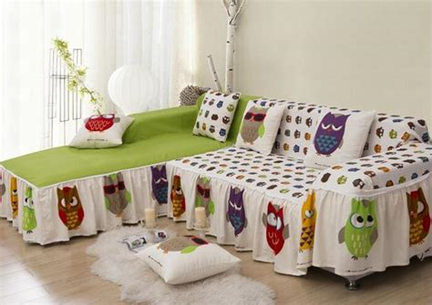 printed couch covers cotton owl printed sofa cover home textile double covers