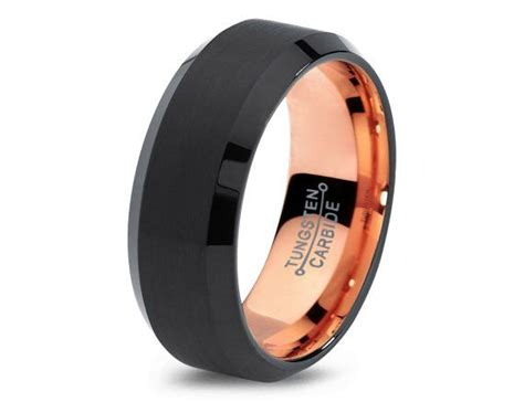 Eheringe Rosegold Schwarz by Black Tungsten Ring Gold Wedding Band Ring By