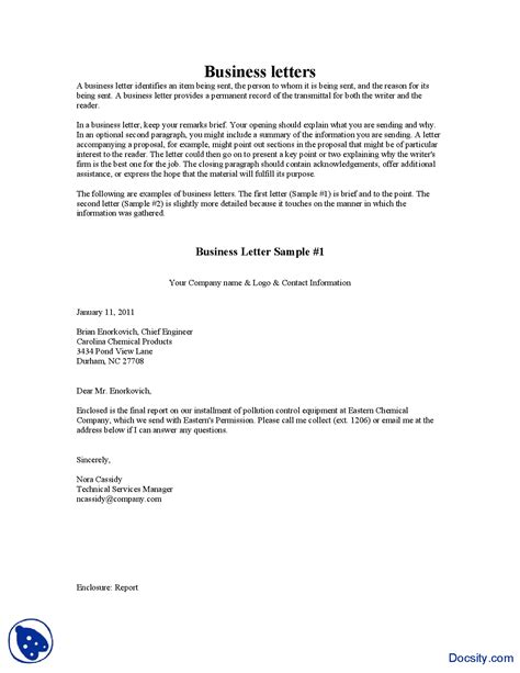 Letter Definition In Business Communication Business Letter Sles Business Communication Lecture Handout Docsity