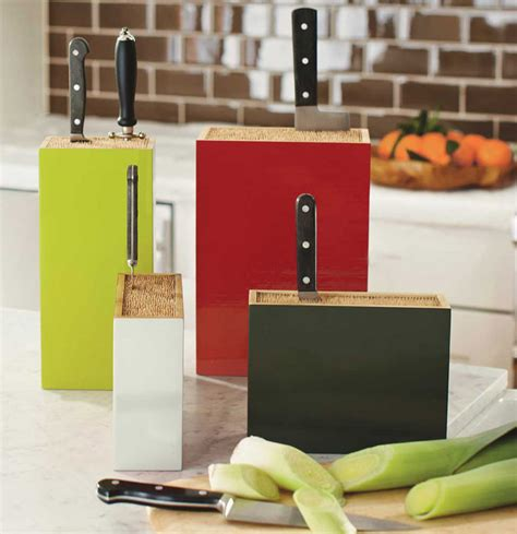 kapoosh kitchen caddy universal slotless bamboo knife universal bamboo box knife holders the green head