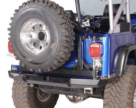 Jeep Tj Rear Tire Carrier Bumper Hanson Offroad Rear Bumper Tire Carrier Yj Yj4102