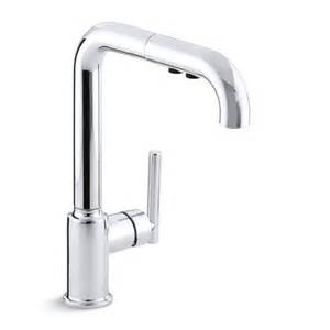 Kohler Single Handle Kitchen Faucet Kohler K 7505 Purist Single Handle Pullout Kitchen Faucet