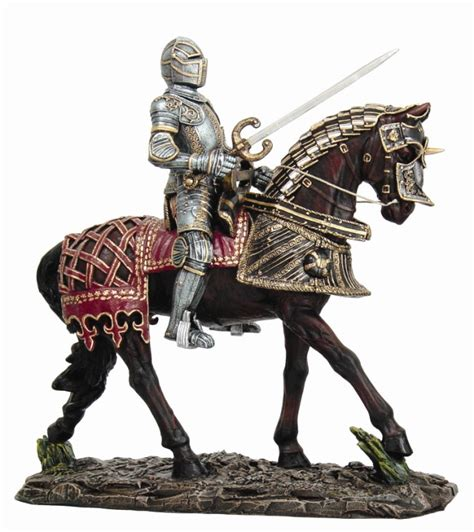 Candle Decoration At Home by Medieval Knight On Horse Statue