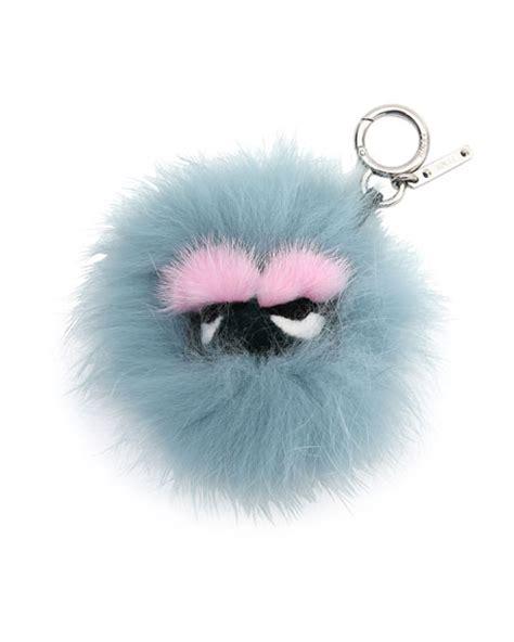 Mini Fendy Eye fendi mink fur bag charm neiman