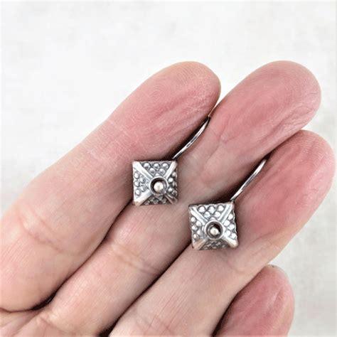 Silver Earrings ~ Square Earrings ~ Sleeper Earrings