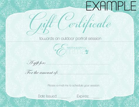 printable gift certificate search results calendar 2015