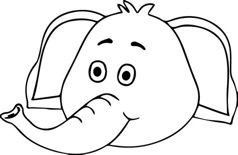 kawaii faces coloring pages elephant cute face coloring page wecoloringpage