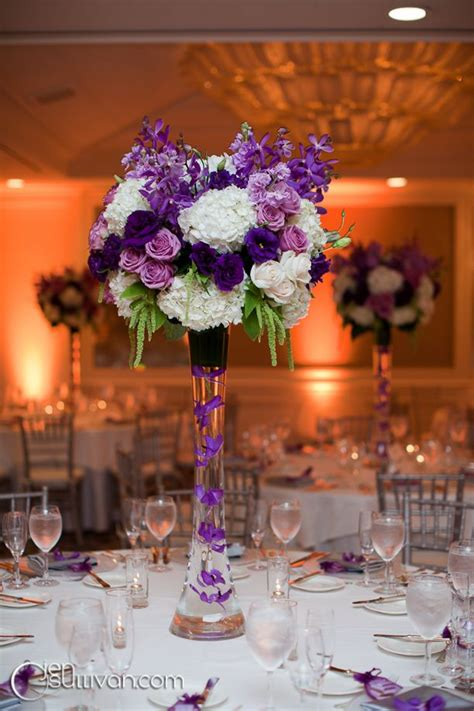 flower centerpieces best 25 purple wedding centerpieces ideas on pinterest