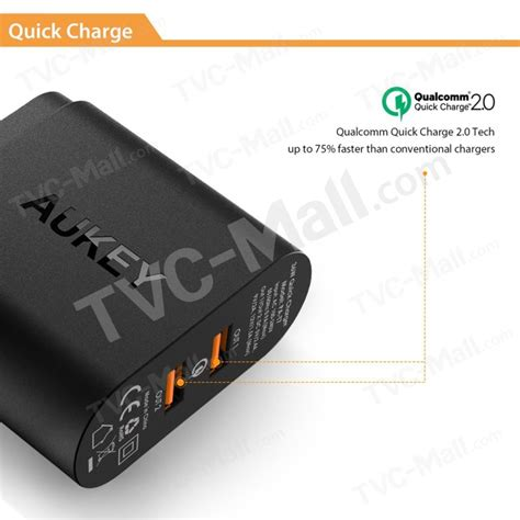 Mg Aukey Usb Car Charger 2 Port 36w With Qualcomm Charge 2 0 M aukey 36w 2 port qualcomm charge 2 0 usb wall charger pa t7 us tvc mall
