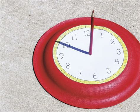 How To Make A Sundial With A Paper Plate - how to make a sundial clock raising arizona magazine
