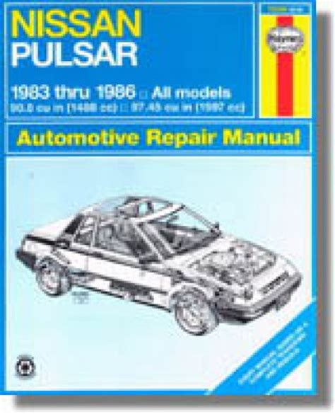 haynes nissan pulsar 1983 1986 auto repair manual