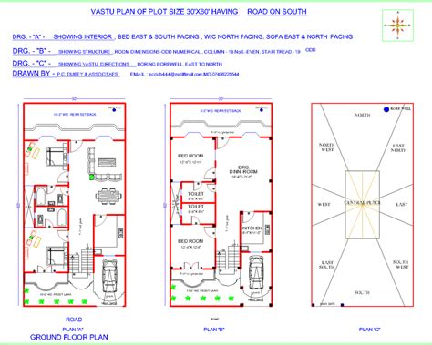 South Facing House Plans According To Vastu Shastra In Vastu Shastra For House Plan