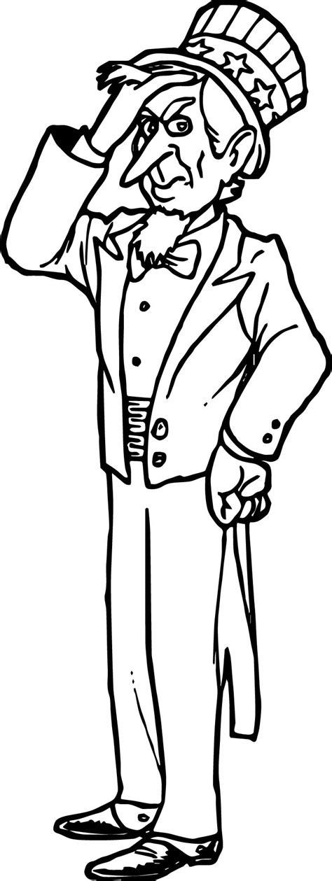 uncle sam wants you coloring page american revolution uncle sam cartoon patriotic coloring