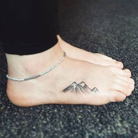 mountain tattoo on foot picture of simple on the foot