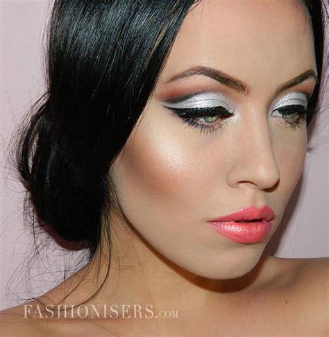 hair and makeup tutorial for wedding metallic silver bridal makeup tutorial fashionisers