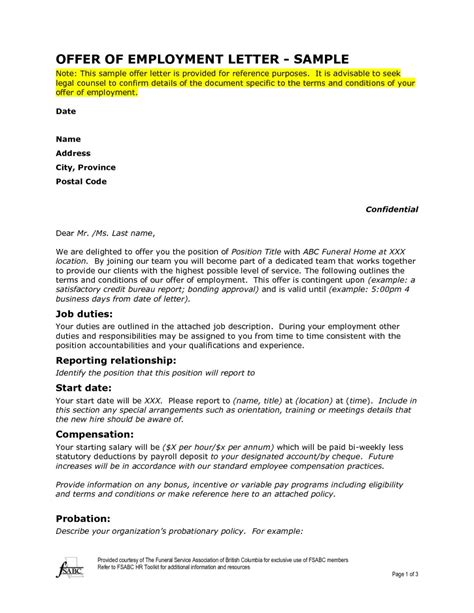 Employment Offer Letter Uk goodly sle offer of employment letter letter format