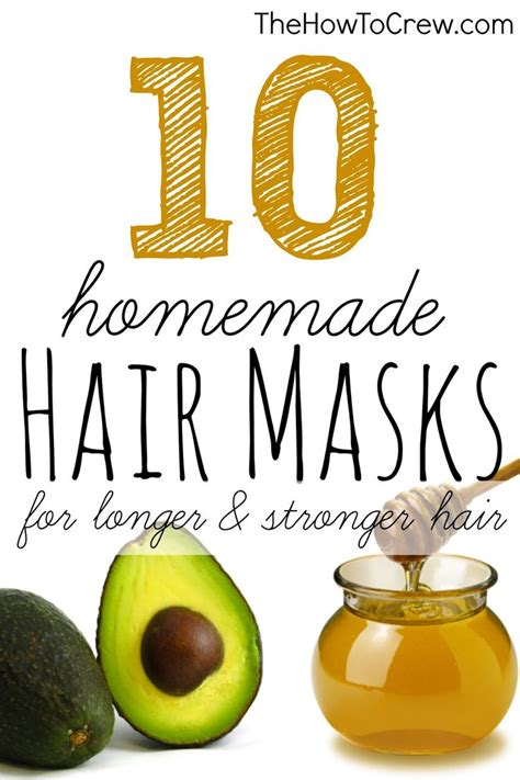the how to crew how to make 10 diy hair masks